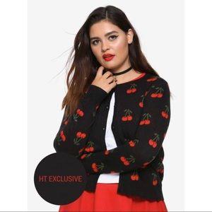Hot Topic RIVERDALE Cheryl Blossom Cherry Cardigan